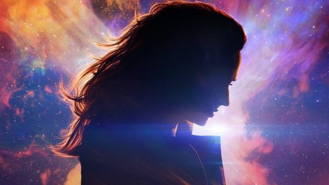 sophie turner as jean grey in the dark phoenix poster