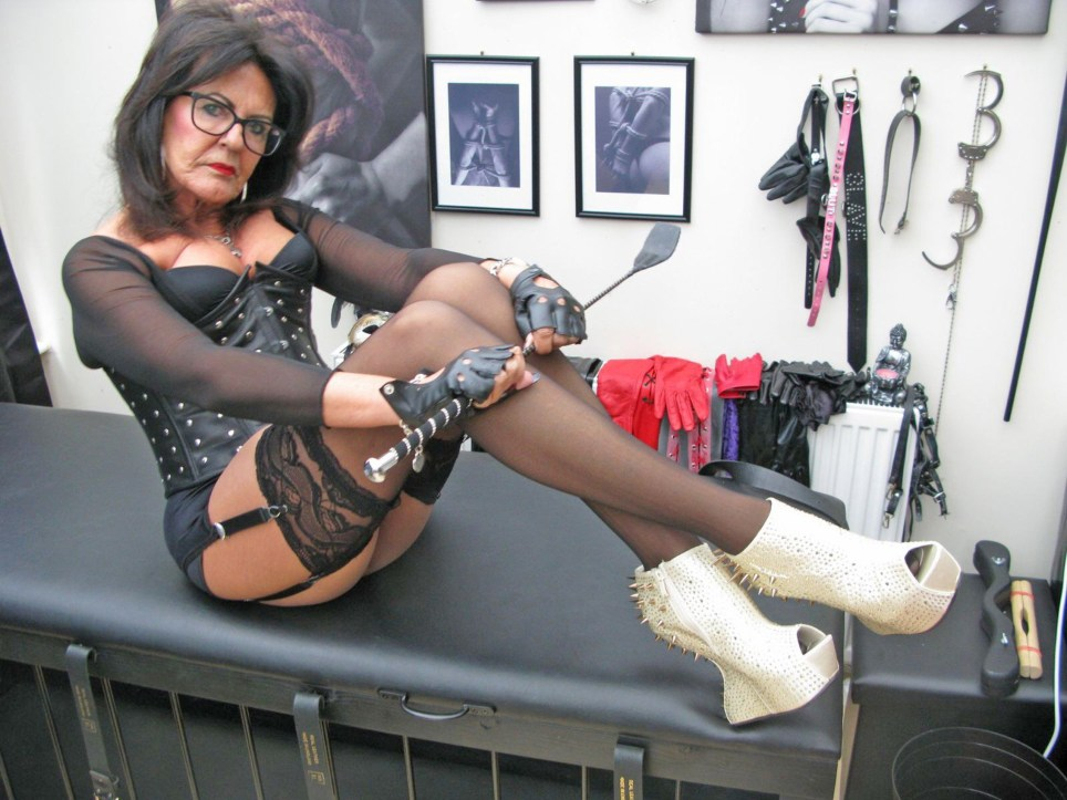 Pic by HotSpot Media - 67-YEAR-OLD DOMINATRIX NAN MAKES MEN DRESS AS MAIDS AND CLEAN HER HOUSE - IN PIC- Sherry Lever, 67, dressed as Mistress Sophia. - A 67-year-old woman has revealed how she has transformed her conservatory into a fetish playroom and charges men a whopping ??120 an hour to be her slave. Sherry Lever, from Swindon, underwent a sexy makeover after her husband left her ??? and she now works as a dominatrix. For the last six years, the mum-of-two watches middle-aged men clean her house as they don French maid outfits. SEE HOTSPOT MEDIA COPY 0121 551 1004...