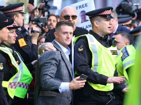 Tommy Robinson arrives at Old Bailey for contempt of court hearing