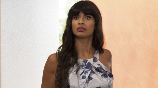 "THE GOOD PLACE -- ""Dance Dance Resolution"" Episode 203 -- Pictured: Jameela Jamil as Tahani -- (Photo by: Colleen Hayes/NBC/NBCU Photo Bank via Getty Images)"