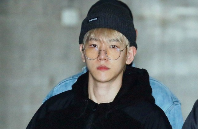 Mandatory Credit: Photo by Imaginechina/REX/Shutterstock (9351833b) South Korean singer and actor Byun Baek-hyun EXO at Gimpo International Airport, Seoul, South Korea - 01 Feb 2018