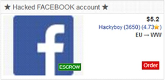 Hackers are selling Facebook logins on the dark web for just