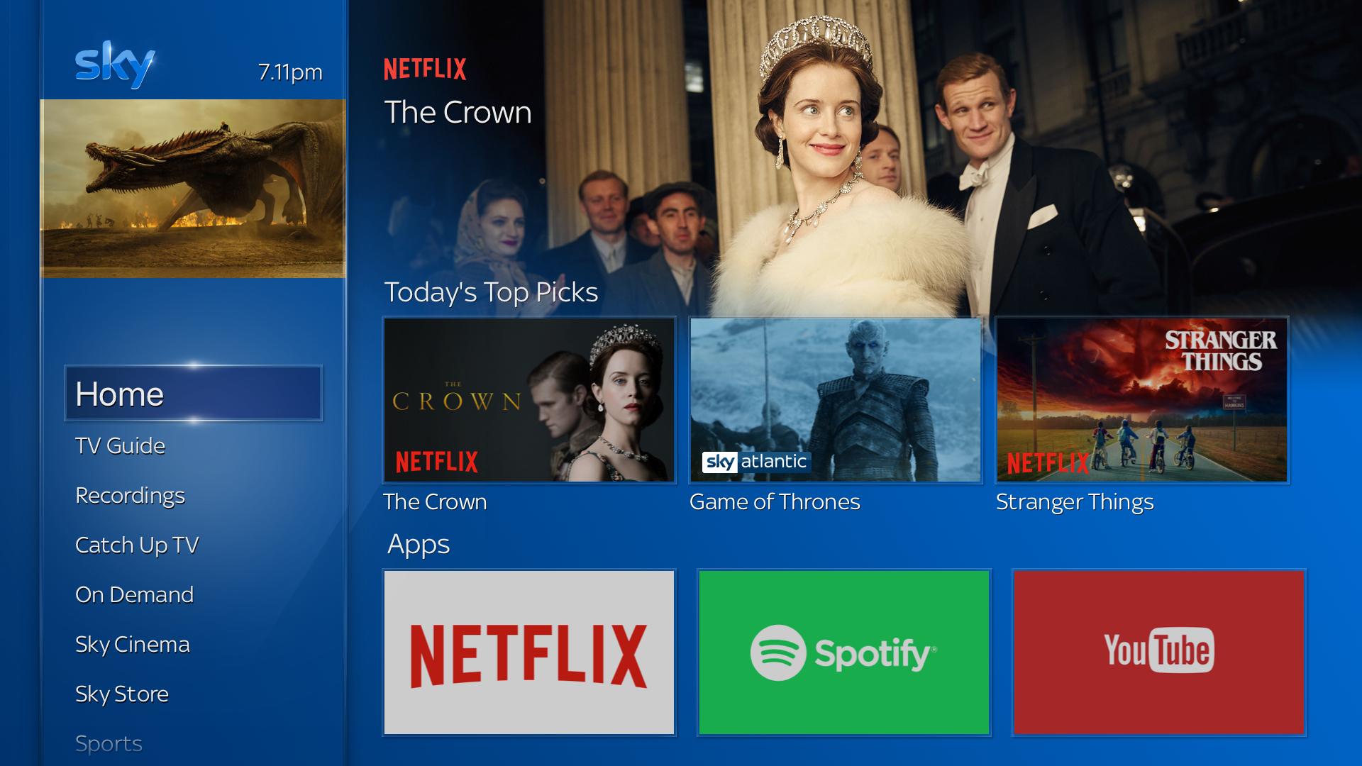Sky Q and Netflix