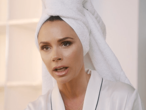 Victoria Beckham proves she does have a sense of humour as she pokes fun at herself in spoof Vogue shoot