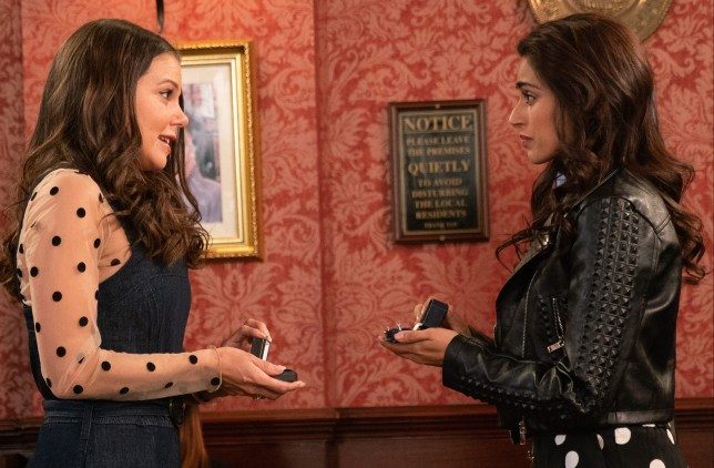 Kate and Rana propose in Coronation Street