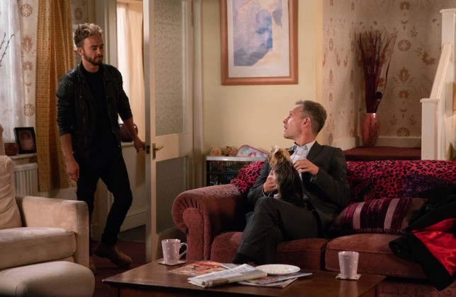 Nick and David argue in Coronation Street