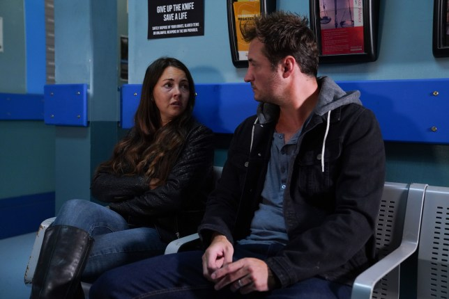 Martin and Stacey argue in EastEnders