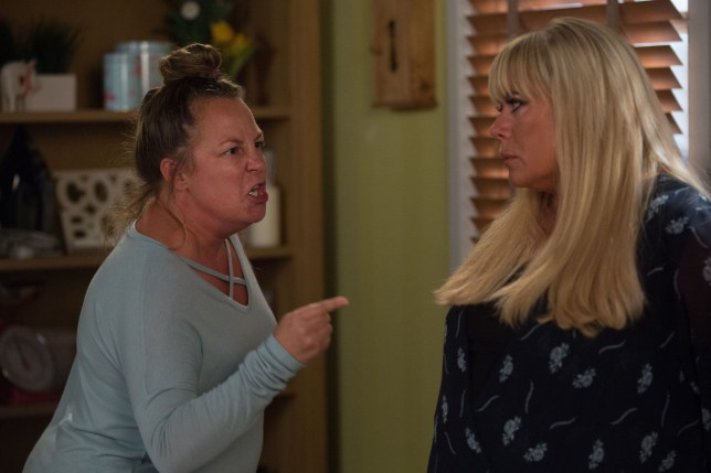 Karen confronts Sharon in EastEnders