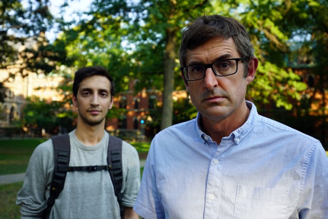 Louis Theroux and Yale student Saif Khan in The Night In Question