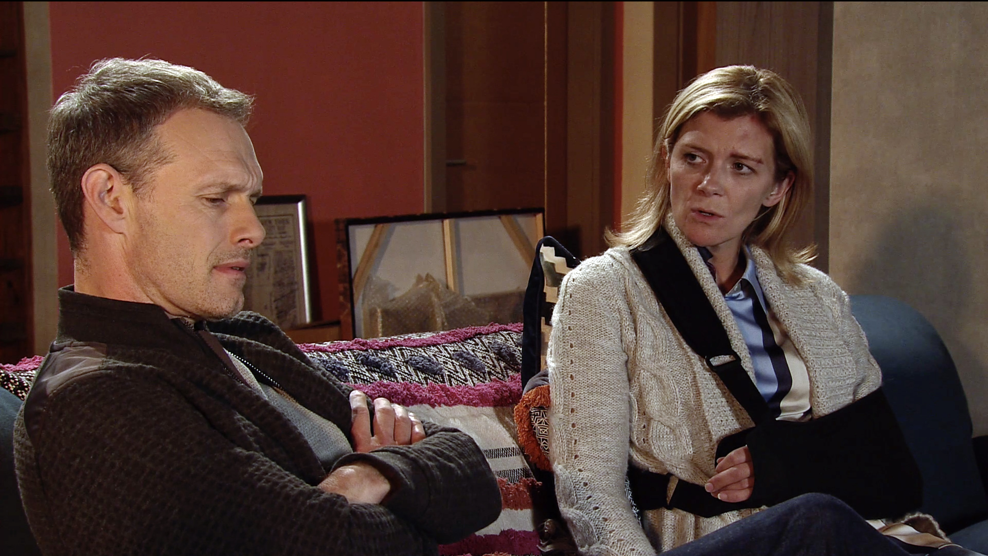 Nick and Leanne row in Coronation Street