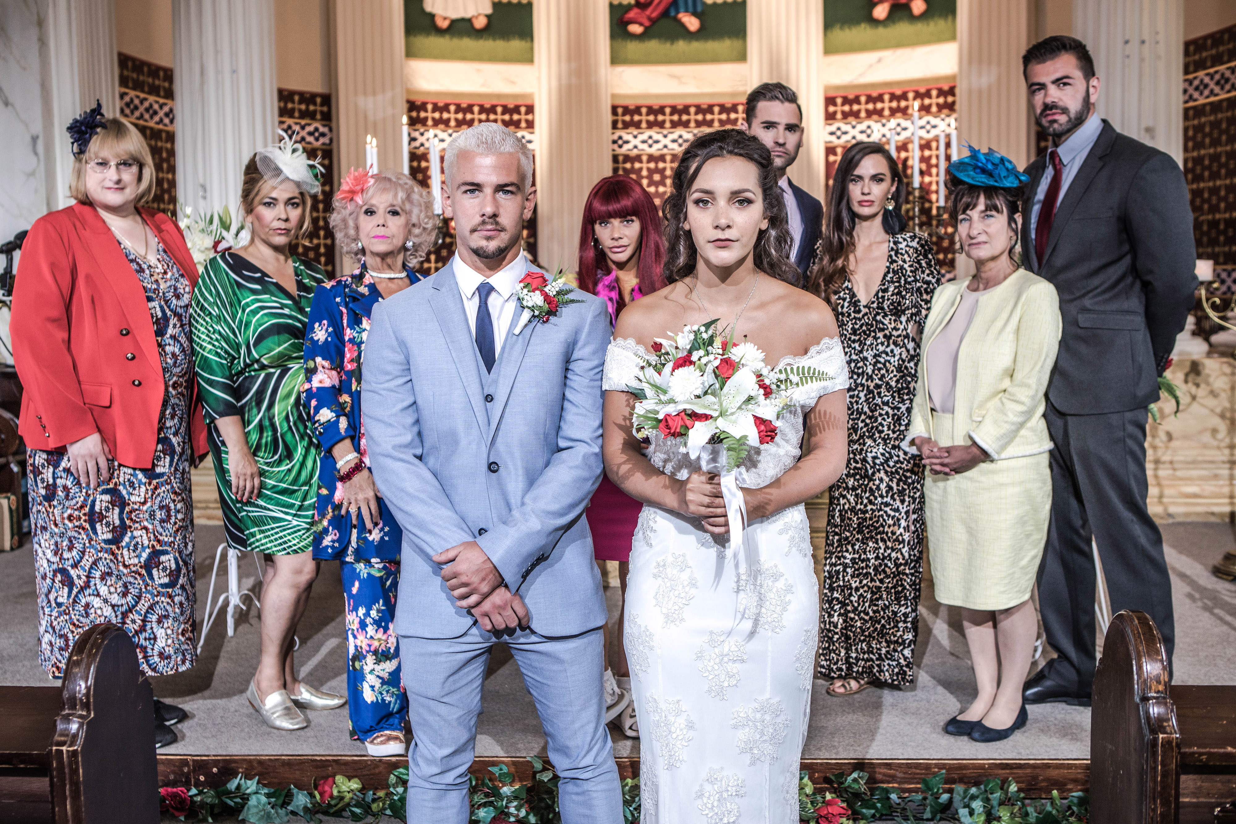 Rory Douglas-Speed reveals 'marrying' his real life girlfriend Nadine Mulkerrin in Hollyoaks was 'terrifying'