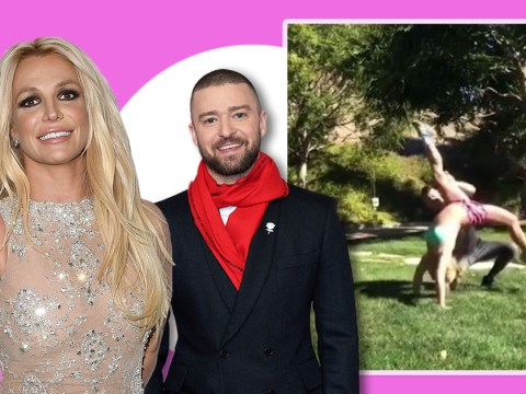 Britney Spears backflips to Justin Timberlake's song giving fans all the nostalgic feels