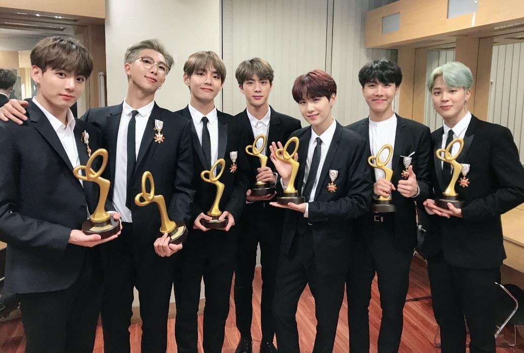 BTS receive medals