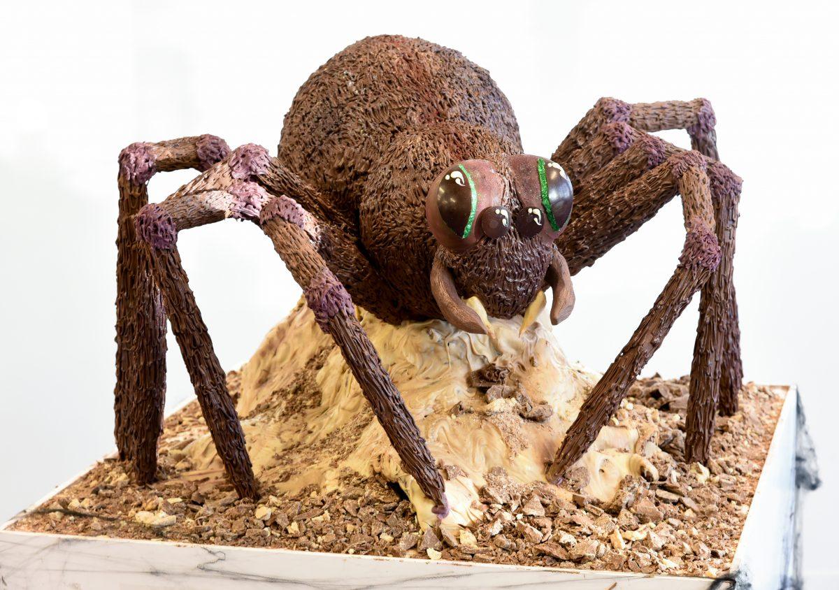 Cadbury World has created a super scary giant chocolate spider for Halloween