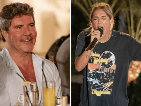 Simon Cowell is visibly moved by Bella Penfold's poignant LGBT tattoo at X Factor Judges' Houses