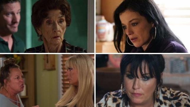EastEnders spoilers for Dot, Hayley, Karen, Sharon and Kat