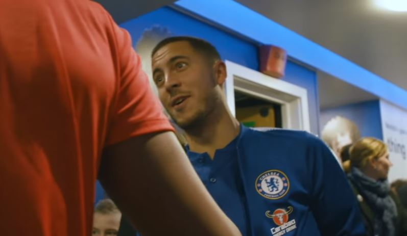 Eden Hazard joked with Daniel Sturridge about his goal after Chelsea's draw with Liverpool