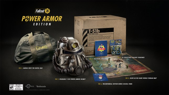 What is in the Fallout 76 Power Armor edition and how to pre