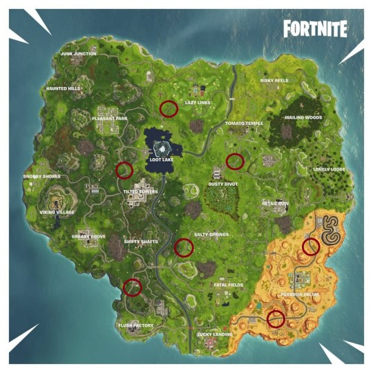 Where to find the radar signs for the week 5 Fortnite challenge