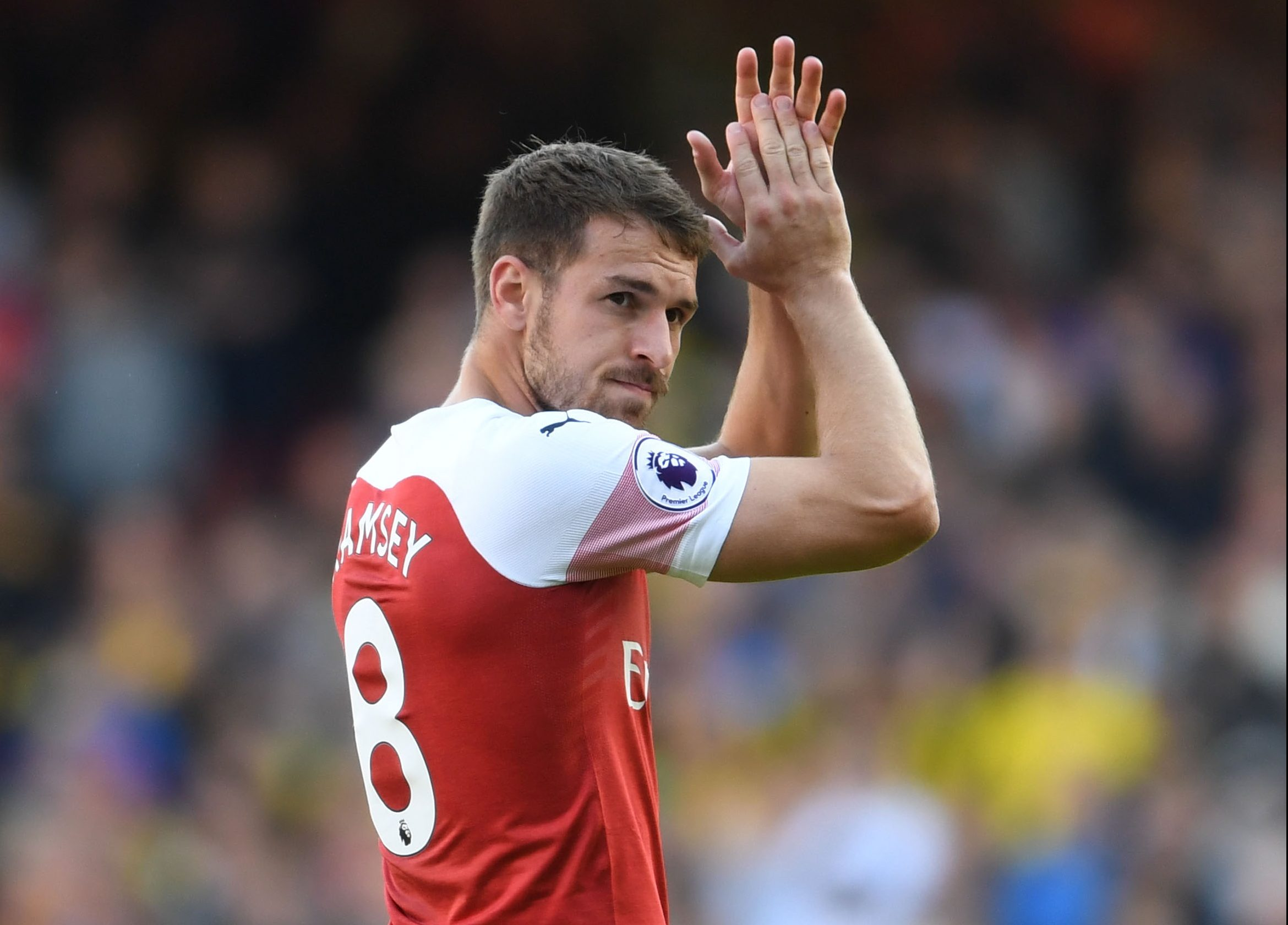 Unai Emery refuses to say if Aaron Ramsey will stay at Arsenal beyond January