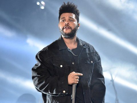 The Weeknd narrowly avoids clash with falling stage equipment as he performs through storm