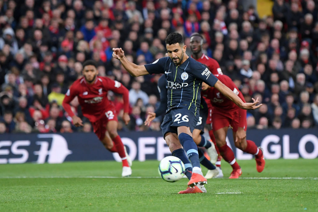 Manchester City forward Riyad Mahrez breaks silence after shocking penalty miss v Liverpool