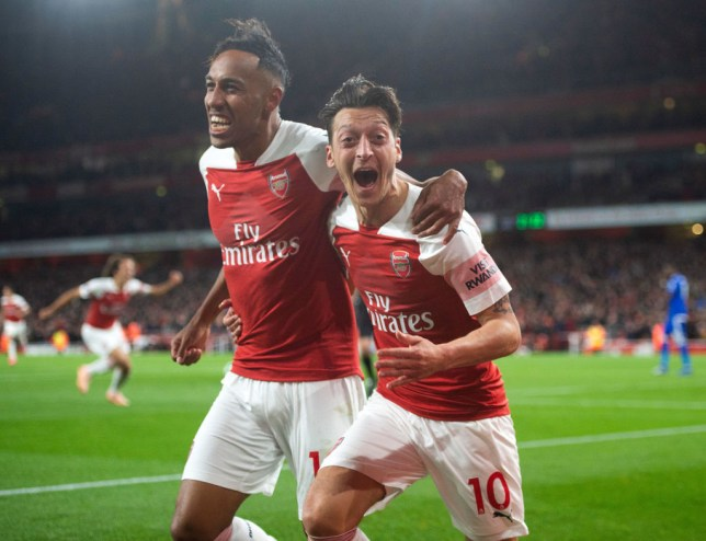 Image result for aubameyang and ozil