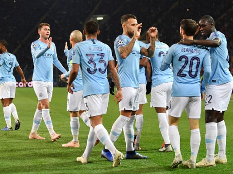 Pep Guardiola and David Silva react to Manchester City's stunning victory over Shakhtar Donetsk