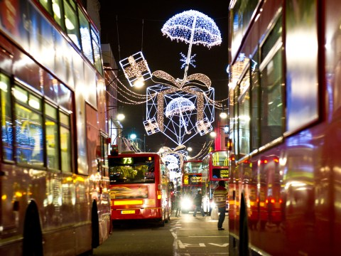 What time is the Oxford Street Christmas lights and who is performing?