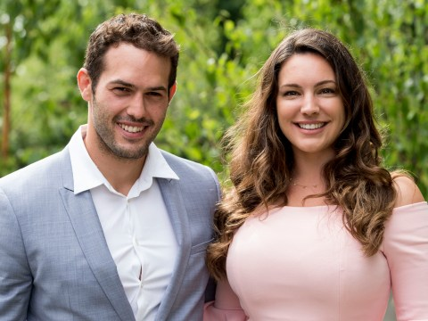 Kelly Brook took control and snared boyfriend Jeremy Parisi on Instagram