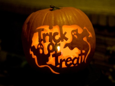 Why do we go trick or treating on Halloween and what time do people start?