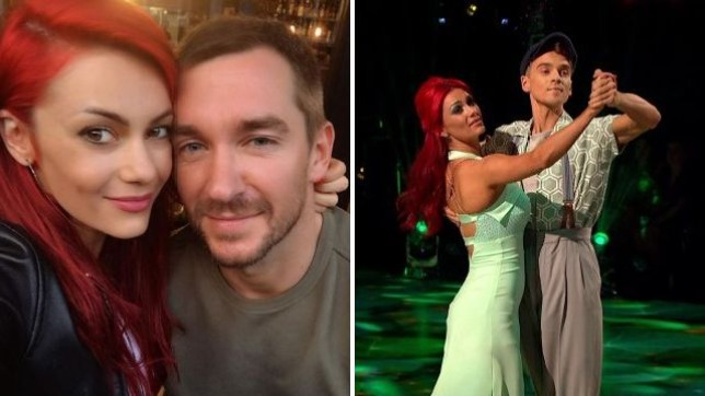 Dianne Buswell with Anthony Quinlan and Joe Sugg