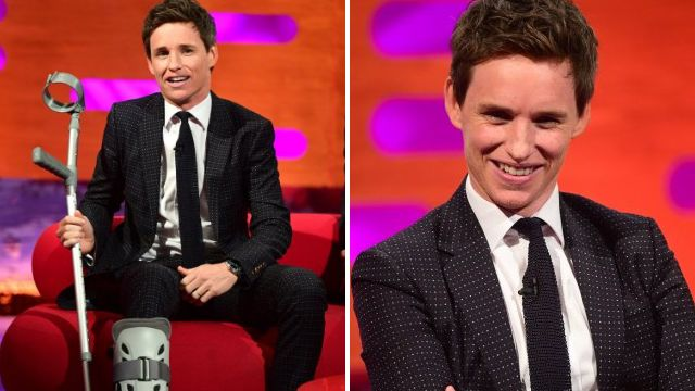 Eddie Redmayne aced 'hardcore' stunt on set – but then sprained ankle tripping over a crash mat