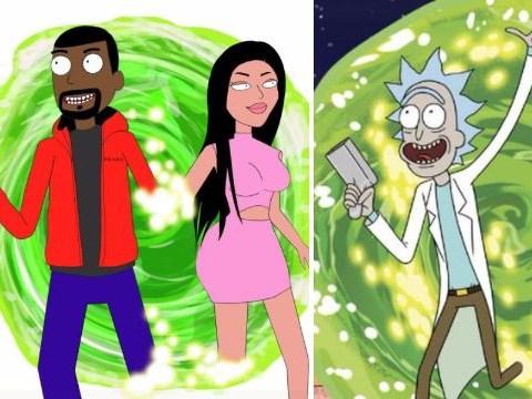 Are Kanye West and Kim Kardashian heading onto Rick and Morty?