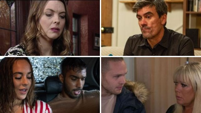Soap spoilers for Tracy in Coronation Street, Cain in Emmerdale, Sinead in Hollyoaks and Sharon in EastEnders