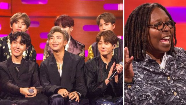 BTS given shirt off Whoopi Goldberg's back as she praises band for 'bringing joy'