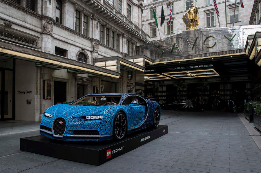 The Bugatti that's made of Lego is cruising around London