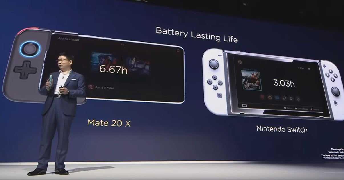 Huawei boldly claims its Mate 20 X phone can take on the Nintendo Switch