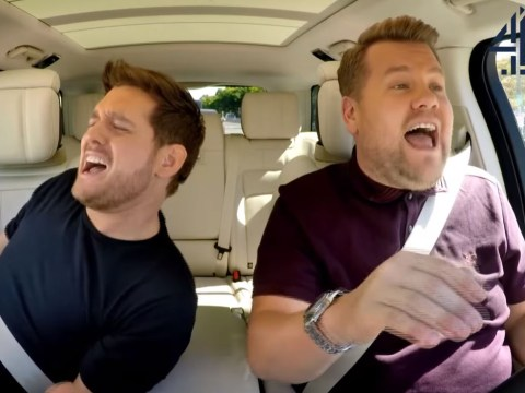 When is Michael Buble's Carpool Karaoke airing on TV?