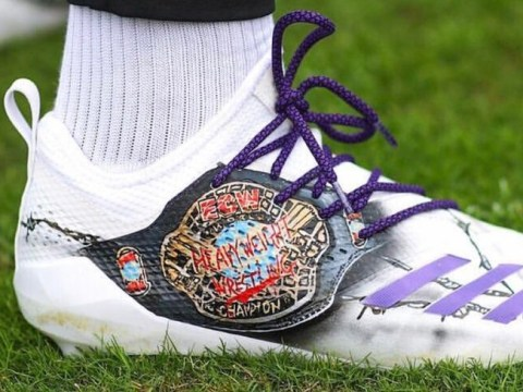 NFL star Stefon Diggs paid tribute to ECW on his cleats at the weekend