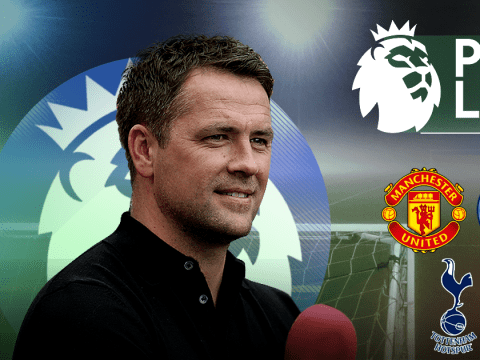 Michael Owen's midweek Premier League predictions including Manchester United v Manchester City and Wolves v Arsenal