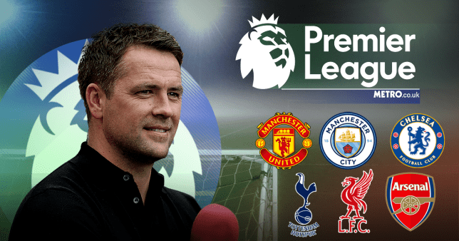 Michael Owen's Premier League predictions including Man Utd