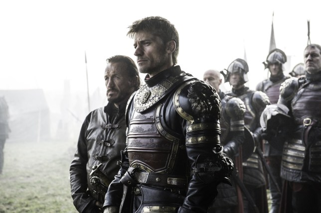 Television Programme: Game of Thrones with Jerome Flynn as Bronn and Nikolaj Coster-Waldau as Jaime Lannister.