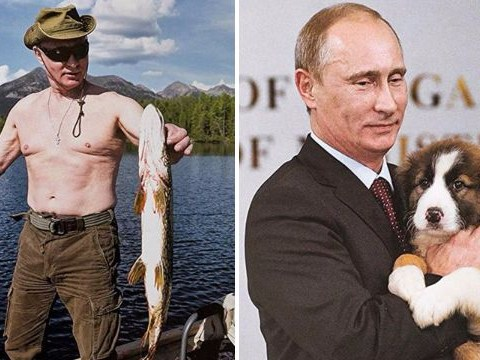 Putin's 2019 calendar has him hugging a puppy and the obligatory shirtless shot