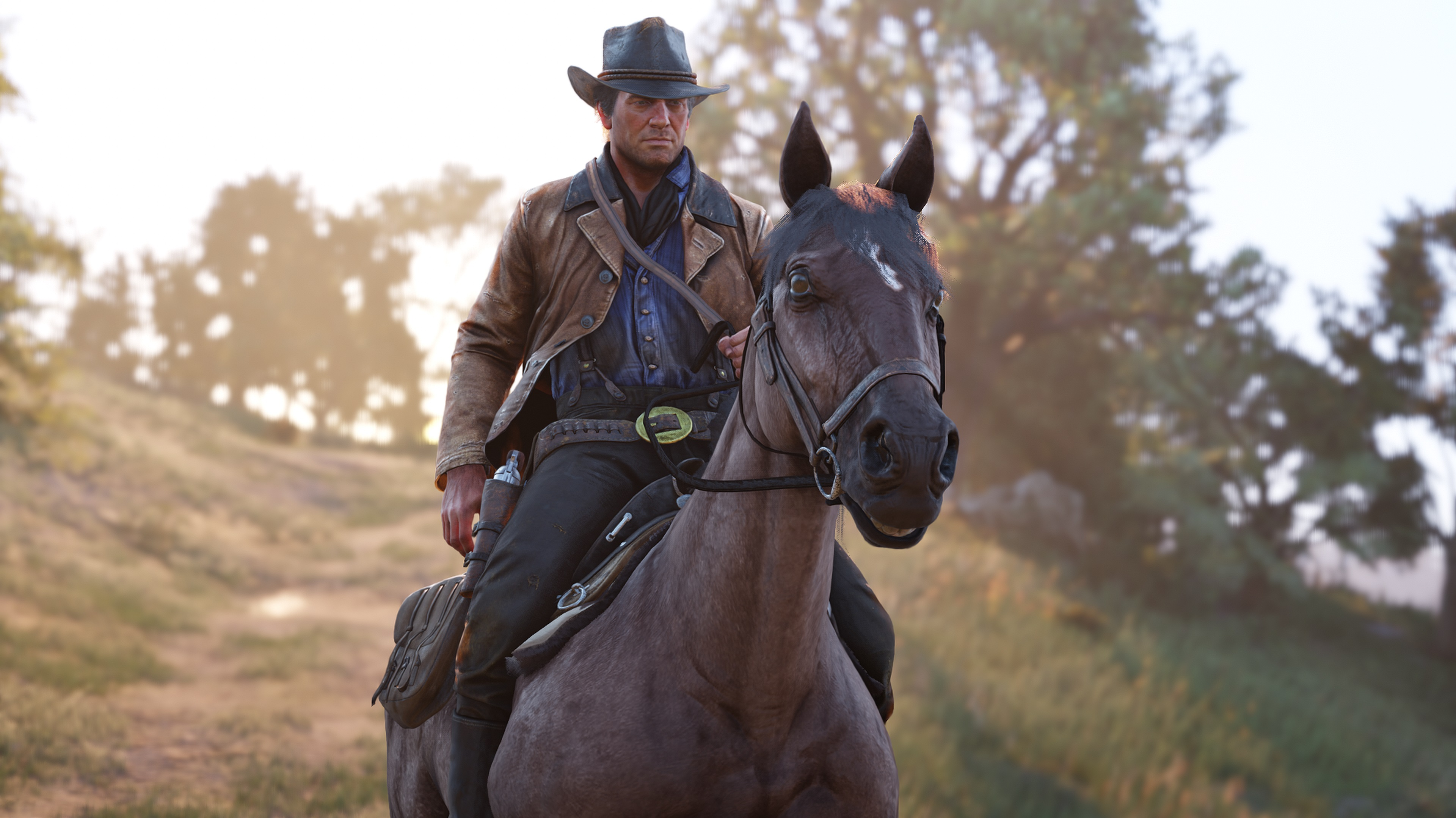 How to store items on your horse in Red Dead Redemption II