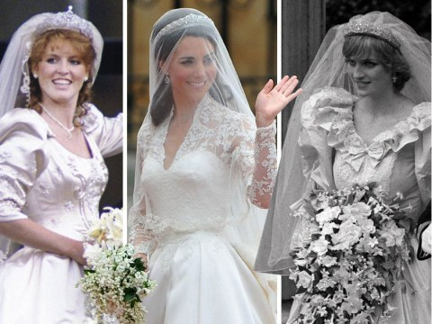Royal wedding dresses compared – from Kate Middleton and Meghan Markle's to Diana and Sarah Ferguson's
