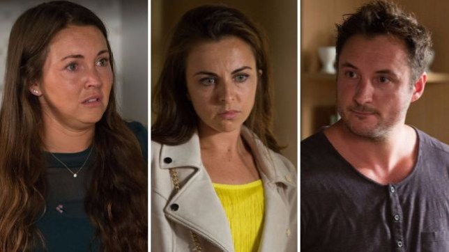 Stacey, Ruby and Martin in EastEnders