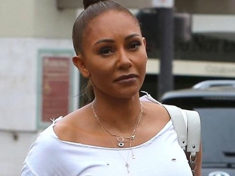 Mel B wears her heart on her tee as she sends defiant message following addiction claims