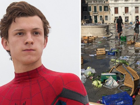 Spider-Man: Far From Home set photos tease epic fight scenes that destroy city