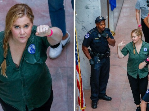 Amy Schumer speaks out after arrest and defends Emily Ratajkowski for not wearing a bra at protest